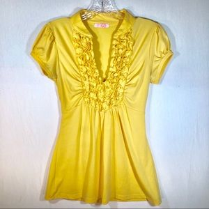 Halo Yellow Blouse Sz Small by Heart & Soul